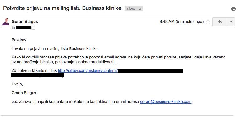 Email potvrdite prijave na NL